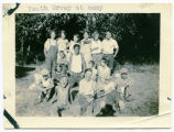 Youth group at camp, Sanish, N.D.
