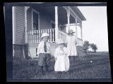 Unidentified children outside house, Walsh County, N.D.