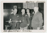General Alfred M. Gruenther (with pipe given to him by Frank Zahn), General Edwards, Floyd...