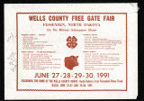 1991 Wells County Fair Poster