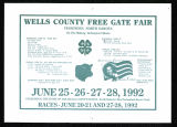 1992 Wells County Fair Poster