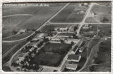 Aerial photograph of Fort Totten Indian School, Fort Totten, N.D.