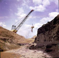 Dragline shovel at coal mine in North Dakota