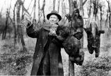 Man with beavers and trap