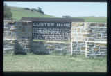 Sign marking site of Custer Home, Fort Abraham Lincoln, Mandan, N.D.