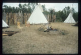 Staged scene of Corps of Discovery Knife River Indian Villages, N.D.
