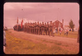 Gathering cadets from Camp Shilo, Border Memorial Day Ceremonies, Sherwood, N.D.