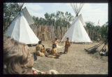 Tipi scene at Corps of Discovery Pageant, Knife River Indian Villages Historic Site, N.D.