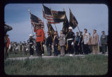 Marching back into United States, Border Memorial Day Ceremonies, Sherwood, N.D.