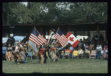 Grand entry with flags, United Tribes International Powwow, Bismarck, N.D.