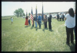 Colour guard ceremony at Arikara Indian Scout Cemetery, White Shield, N.D.