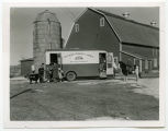 McLean County Area bookmobile, at stop near Riverdale, N.D.