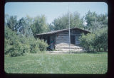 Theodore Roosevelt's cabin on North Dakota State Capitol Grounds, Bismarck, N.D.