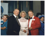 Governor George Sinner, Jane Sinner, and Myron Floren at North Dakota Centennial, Bismarck, N.D.