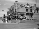Demolition of Grand Pacific Hotel and Finney's Drug Store, downtown Bismarck, N.D.