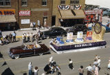 Elks Parade, Gold Seal Company float on 500 block of Main Avenue, Bismarck, N.D.