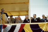 President Dwight D. Eisenhower, Governor C. Norman Brunsdale and other dignitaries at closure of...