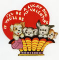 I'll be a lucky dog if you'll be my valentine