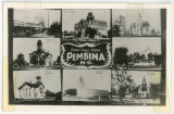Greetings from Pembina, N.D. composite postcard