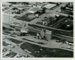Aerial over Farmers Union and Nelson Elevators, Tioga, N.D.