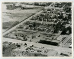 Aerial over construction business, Minot, N.D.