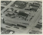 Aerial over Ford garage, Columbus, N.D.