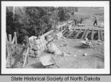 Civilian Conservation Corps building vehicle bridge, International Peace Garden, Man. and N.D.