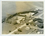 Aerial over school, Cando, N.D.