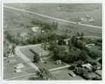Aerial over church and Sacred Heart Academy, Willow City, N.D.