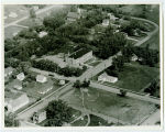 Aerial over school, Willow City, N.D.