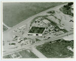 Aerial over M. J. McGuire Ford dealership, Rugby, N.D.