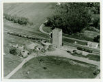 Aerial over elevator, Pleasant Lake, N.D.