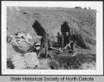 Civilian Conservation Corps excavation for wing walls, International Peace Garden, Man. and N.D.