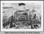 Civilian Conservation Corps bridge construction, International Peace Garden, Man. and N.D.