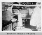 U.S.S. North Dakota butcher shop crew at work, Navy Yard, New York