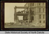 Old Main Building tornado damage, University of North Dakota, Grand Forks, Dakota Territory