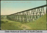 Gassman Coulee railroad bridge, Minot, N.D.