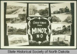 Composite postcard of Minot, N.D.