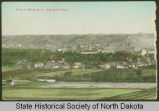 Handcolored view of Minot, N.D.