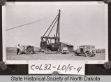 Early oil well drilling rig, Kidder County, N.D.