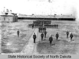 Dress parade at Fort Yates, N.D.