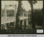 Footbridge across Sheyenne River, Valley City, N.D.