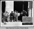 Laying of cornerstone at new North Dakota capitol building