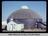 Levi Glick round barn, current exterior view, Surrey, N.D. vicinity