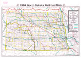 1994 North Dakota railroad map