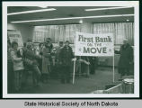 First Bank employees preparing to move to new location, Bismarck, N.D.
