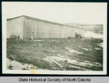 New garage at Civilian Conservation Corps camp 2771 and 2772 near Watford City, N.D.