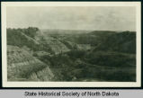 Badlands hills and valleys, North Dakota