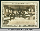 Men in barracks, Civilian Conservation Corps companies 2771 and 2772, near Watford City, N.D.