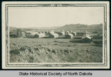 View of Civilian Conservation Corp camp, companies 2771 and 2772, near Watford City, N.D.
